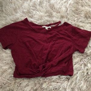 Red crop top from express